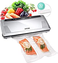 Vacuum Sealer Machine, Aicok 3 In 1 Automatic Food Savers and Sous Vide with Starter Kit, Pulse Function, Led Indicator Lights, Easy to Clean, Compact Design
