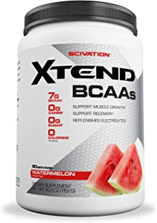 XTEND Original BCAA Powder Watermelon Explosion | Sugar Free Post Workout Muscle Recovery Drink with Amino Acids | 7g BCAAs for Men & Women| 90 Servings
