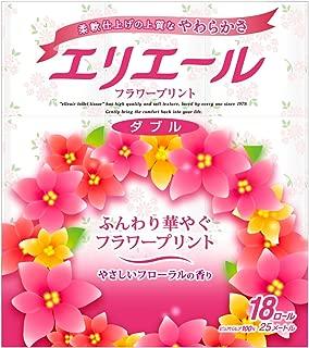 Elleair toilet Tissue Flower Print 18 roll double