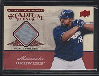 2008 Upper Deck Prince Fielder Brewers Game Used Jersey Baseball Card #SS-31