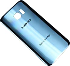OEM Original Back Glass Cover Battery Door Replacement For Samsung Galaxy S7 edge G935 (Coral Blue)