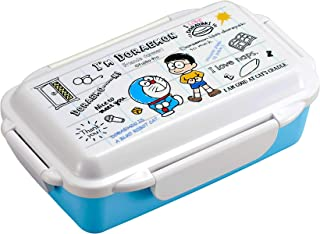 OSK Doraemon 500ml Bento Lunch Box Blue White Lockable with Inner Partition PCD-500 Japan Import