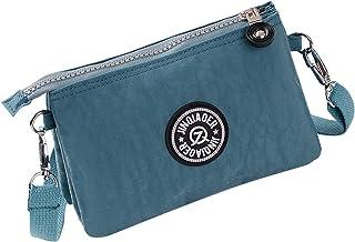Wiwsi Multi Layer Nylon Wallets Women Wristlet Bag Purse Phone Pouch Handbag Hot