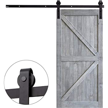 CCJH 8FT 244CM Acero Herraje para Puerta Corredera Kit de Accesorios para Puertas Correderas Juego de Piezas de Carril para Una Puerta, Con Un Regalo Gratis: Amazon.es: Bricolaje y herramientas
