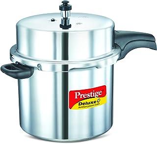 Prestige Deluxe Plus Pressure Cooker 12 Liter, Silver Mpd10705, Aluminium Material