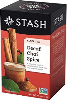 Stash Tea - プレミアム チャイ スパイスのカフェイン抜きのコーヒー - 1ティーバッグ