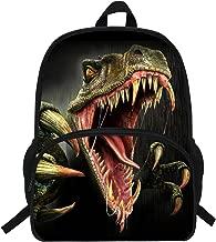 VEEWOW 16-Inch Cool Animal Print Monster Dinosaur Backpack For Teen Boys School Bag For Kids (D944)