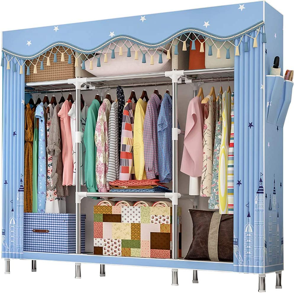 ZZBIQS Extra Popular shop is the lowest price challenge Large Selling Wardrobe Storage Closet Organizer Sh Portable