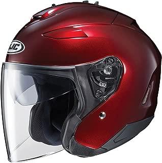 HJC IS-33 II Open-Face Motorcycle Helmet (Wine, Large)