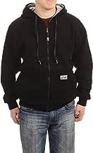 Pro Club Men's Reversible Full Zip Hoodie S-7XL (2XL, Black/Grey)
