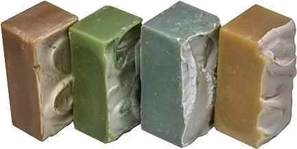 Goat Milk Soap - FOR MEN SCENTS - Dragon Blood, Evergreen, Nautical, Sandalwood. All-Natural, Handmade by Goat Milk Stuff. Bars 5 oz. each, 4 Count