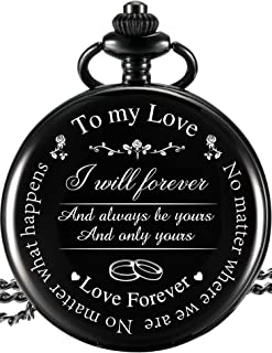 Pangda Pocket Watch to Husband Wife Boyfriend Girlfriend Gift, Engraved