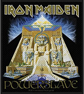 Iron Maiden Powerslave Patch Pyramid Heavy Metal Album Woven Sew On Applique