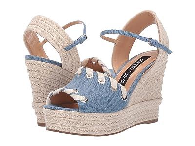 Sergio Rossi A84080-MFN540 (Var. Blue Denim Fabric) Women