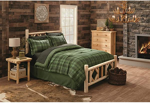 CASTLECREEK Diamond Cedar Log Bed Twin