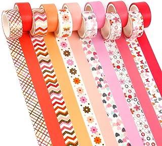 YUBX Gold Pink Washi Tape Set de ruban adhésif décoratif VSCO pour travaux manuels, journaux Bullet Journals, planificateu...