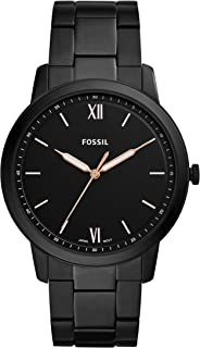 Fossil Men's The Minimalist Three-Hand Black-Tone Stainless Steel Watch FS5526