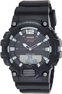 Casio Men's Black Dial Resin Band Watch - Hdc-700-1Avdf, Analog-Digital Display