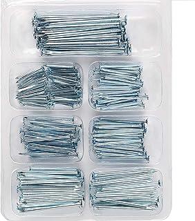 HongWay Hardware Nail Assortment Kit 200pcs, Galvanized Nails, 5 Size Assortment