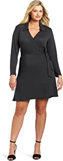 Star Vixen Women's Plus-Size Full Wrap Dress