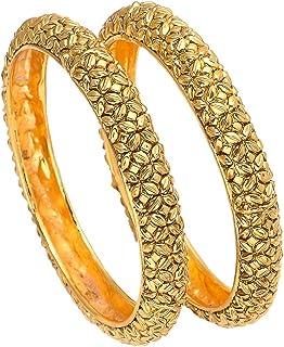 GEODE DELIGHT Gold Plated Bangles for Women & Girls