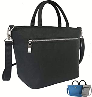 Womens Lunch Bag by SEEKERS COVE with Shoulder Strap for Work School | Quality 8L Lunch Tote Adjustable Strap, 5mm Thick Insulation | Purse Style Lunch Bag with Side Pocket | (Black)