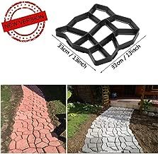 VIPITH New Upgrade Version 13 x 13 inch DIY Walk Maker Concrete Stepping Stone Mold Reusable Patio Path Mold Maker Garden Lawn Paving Stone Mold