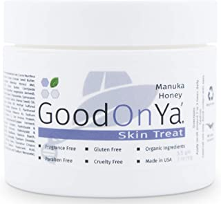 Manuka Honey Face Moisturizer with Coconut Oil, Cocoa Butter, Aloe Vera, Vitamin E and Vitamin C - Anti Aging and Skin Lightening Cream - Pore Minimizer and Whitening MSM Cream - (2 oz)