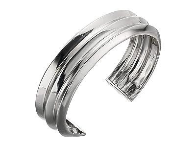 SOLE / SOCIETY Metal Midsize Cuff Bracelet (Soft Polish Rhodium) Bracelet