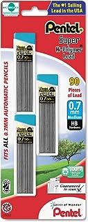 Pentel C27BPHB3K6 Super Hi-Polymer Lead Refills, 0.7mm, HB, Black (180)