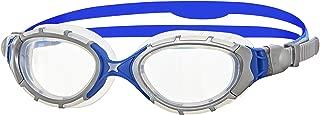 Zoggs Men's Predator Flex 2.0 Swimming Goggles, Silver/blue/clear, One Size