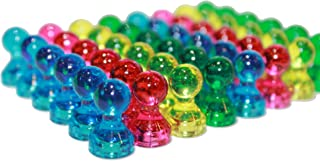 Push-Pin Magnets - 48 Assorted Color Acrylic Small Magnets- Perfect for Fridges, Calendars, and Whiteboards! Use in the Classroom or Office!