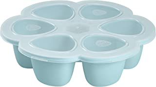 BEABA Silicone Multiportions Baby Food Tray, Oven Safe, Made in Italy, Sky, 3 oz