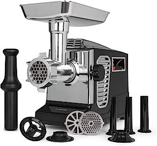 Klarstein Kraftprotz - Hachoir à viande électrique, 700 watts, 2 vitesses, Marche arrière, Couteau en inox, Grand bol en a...