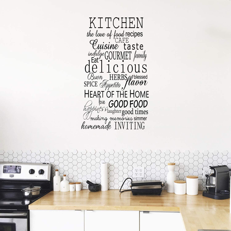 Sticker Art Kitchen Decal Vinyl Decal Wall Words Cooking Conversions Cooking Decal Wall Decal Graphic