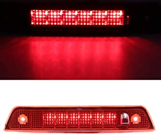 High Mount LED Third 3rd Brake Light, Rear Roof Center Mount Stop Tail Lamp for 2005-2010 Jeep Grand Cherokee (Red)