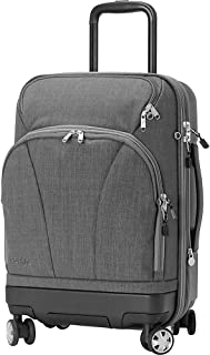 eBags TLS Hybrid (Hardside/Softside) Spinner Expandable Luggage - 22-inch - Carry-On - (Heathered Graphite)