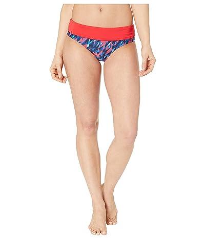 TYR Polar Riva Classic Bikini Bottoms (Navy/Red) Women
