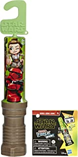 Star Wars Micro Force Wow! Kids Mini Collectible Figure 4 Pack with 2 Character Stickers in Lightsaber Packaging