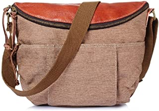 Mens Bag Shoulder Bag Simple Retro Zipper Canvas Shoulder Bag High capacity