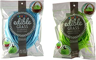 Assorted Color Edible Easter Basket Grass Filler, 1 Ounce, Pack of 2