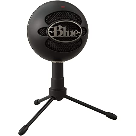 Blue Micrófono USB Snowball ICE Plug'n Play para grabación, podcasting, broadcasting, streaming de gaming en Twitch, locuciones, vídeos en YouTube en PC y Mac - Negro