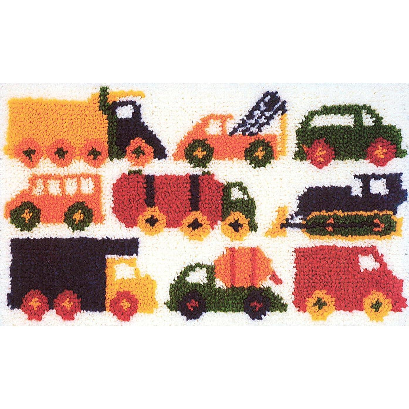 M C G Textiles Latch Hook Kit, 26-1/2-Inch by 16-Inch, Traffic Jam