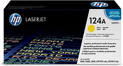 HP 124A - Cartucho de tóner original LaserJet para Laserjet series 1600, 2600, 2605, CM1015mfp y CM1017mfp, color amarillo