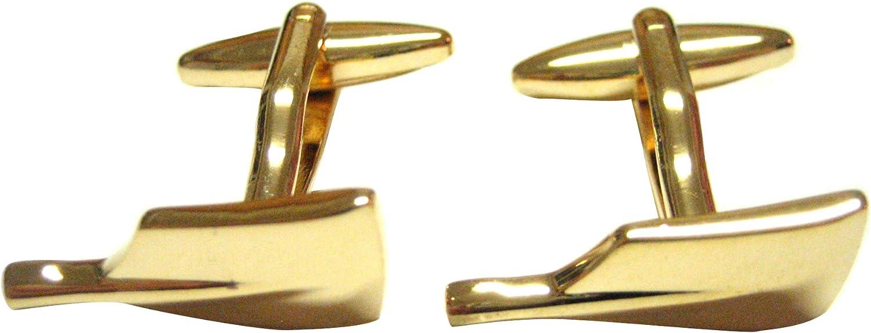 Kiola Designs Gold Toned Boat Paddle Oar Cufflinks
