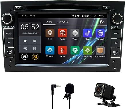 Coche estéreo Android 8,1 Radio Reproductor de DVD GPS NAVI 7 Pulgadas IPS 2 DIN Encaja para Opel Antara Vectra Crosa Vivaro Zafira Meriva cámara Bluetooth WiFi Espejo Enlace USB SWC (Negro)