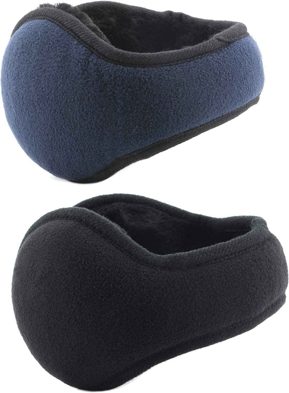 Metog Unisex-Adult's Winter Foldable Polar Fleece Earmuffs