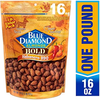 Blue Diamond Almonds, Bold Habanero BBQ, 16 Ounce
