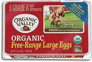Organic Valley, Organic Free Range Large Brown Eggs, Half Dozen (6 Count)