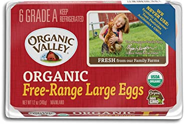 Organic Valley, Organic Free Range Large Brown Eggs, Half Dozen (6 Count)